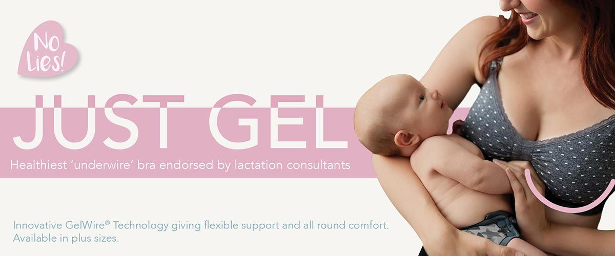 JUST GEL - Healthiest 'underwire' bra endorsed by lactation consultants